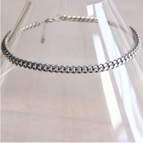 Chain ketting 5mm Zilver
