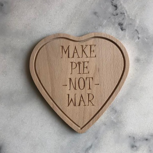 Snijplankje, Make pie not war