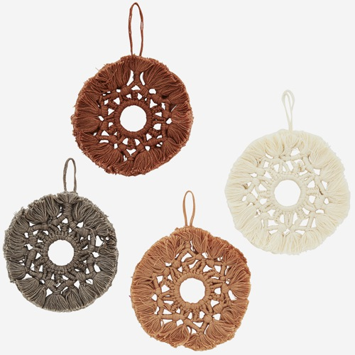 Madam Stoltz Hanging cotton ornament