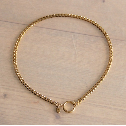 Chain ketting 5mm met Rond Slot