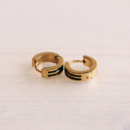 Mini oorring Dubbel Streep 13mm