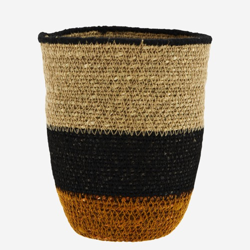 Madam Stoltz Seagrass Basket w/ stitching